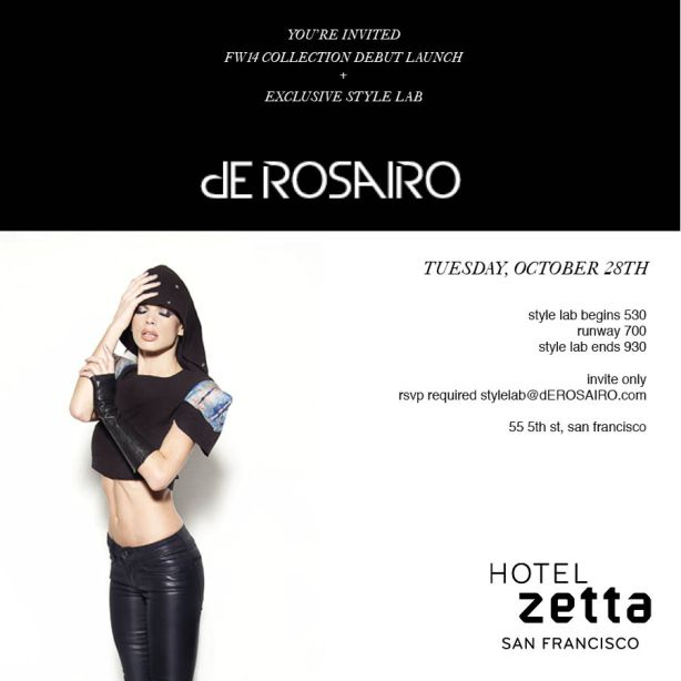 dE ROSAIRO FW14 Launch Invite
